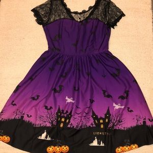 Halloween pin up style lace sweetheart dress L